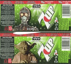 7up bottle labels -- UK Star Wars Episode I promotion | by Paxton Holley