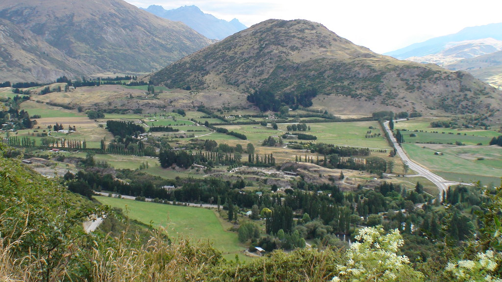 View From Crown Range Road, South Island, New Zealand
