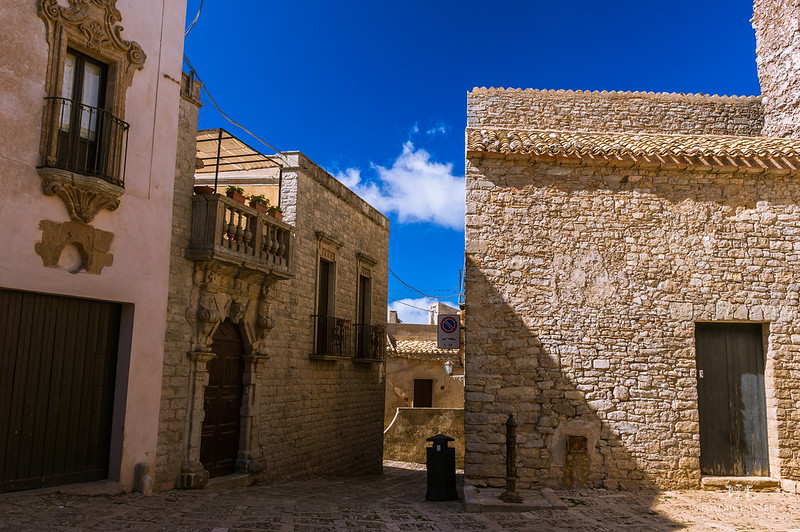 Street in Erice, Trapani (Sicily, Italy)