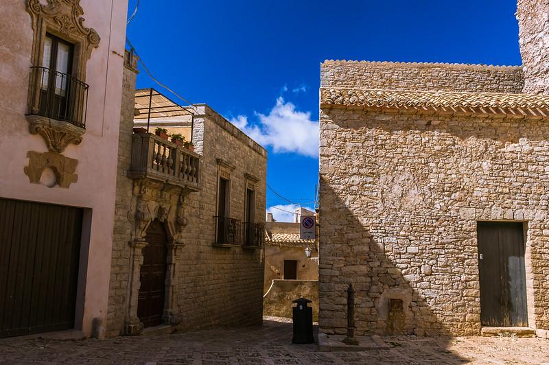 Street in Erice, Trapani (Sicily, Italy)