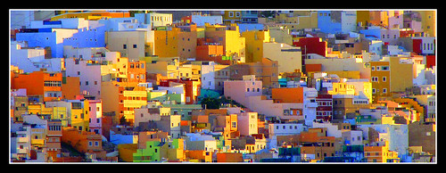Colorful hillside neighborhood in Lisbon, Portugal in the morning sun | by o palsson