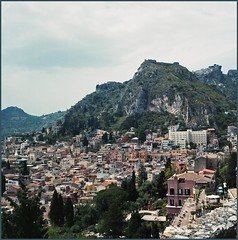Taormina view from Greek Amphitheatre