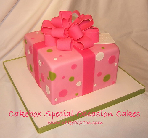 Pink Package Birthday Cake | by Cakebox Special Occasion Cakes