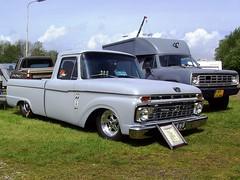 1966 Ford F100 pickup truck and 1976 Dodge W200 by Davydutchy