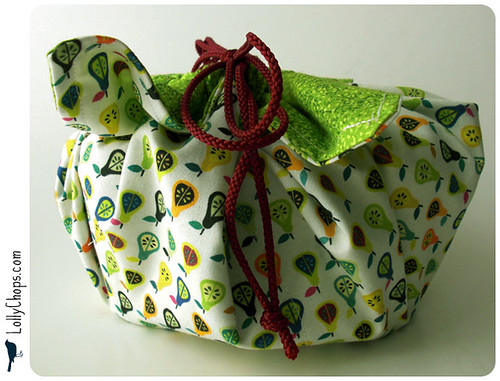 LaFujiMama Bento Bag - Pear Pops Fabric | by LollyChops