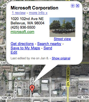 Closing Microsoft on Google Maps | by rustybrick