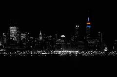 NYC Skyline in B&W by mattdonders