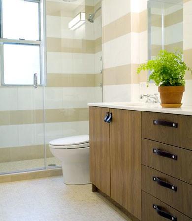 Ideas For The Bathroom Wide Horizontal Stripes Dark Woo Flickr