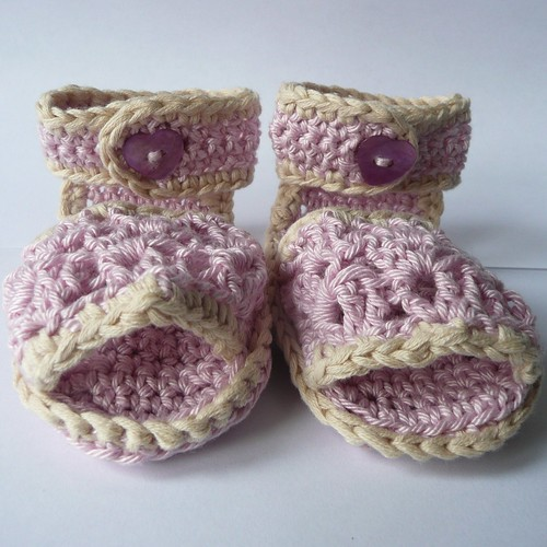 Lovely Lacy Sandals Pattern | by Ceradka