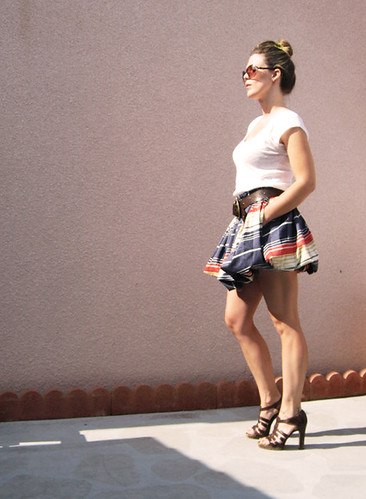 striped-bubble-skirt-gladiators-warm | by ...love Maegan