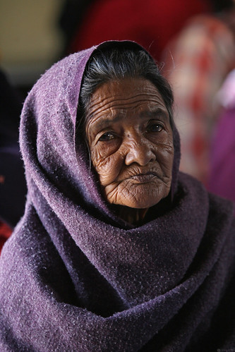 Elderly woman speaks about Water Supply and Sanitation program in Nepal | by World Bank Photo Collection
