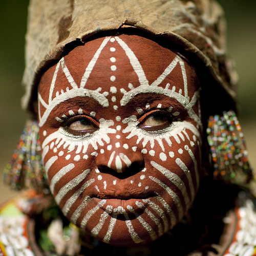 Face painted Kikuyu woman - Kenya | by Eric Lafforgue