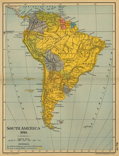 50 Mapa antiguo América del Sur (South America old map)