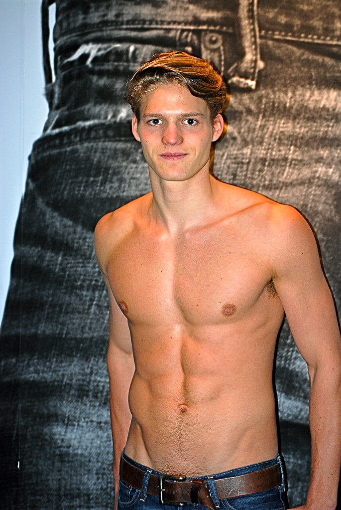 Abercrombie and Fitch model / greeter A&F Flagship Store N ...
