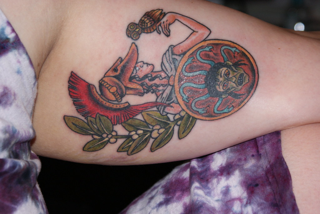 Athena Tattoo Athena Tattoo Detail by