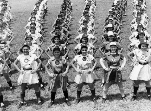 All American Girls Professional Baseball League members performing calisthenics: Opa-locka, Florida | by State Library and Archives of Florida