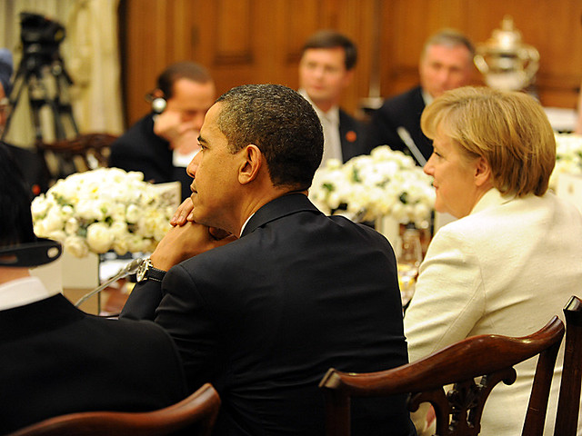 Barck Obama and Angela Merkel