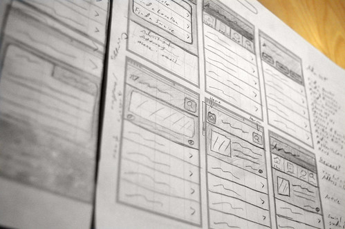 iPhone wireframe sketches | by brandonE