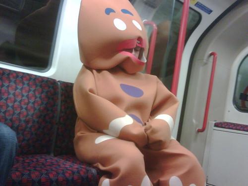 Ginger Bread Man on the Tube