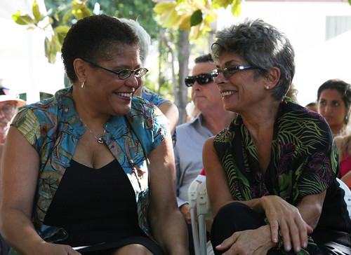 California Assembly Speaker Karen Bass and California Inspector General Laura Chick | by aclu.socal