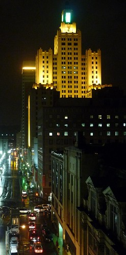 Downtown Providence at night by Eric Harrison, via I {heart} Rhody