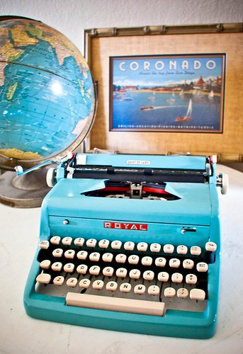 1950s Turquoise Royal Typewriter | by Poetic Home