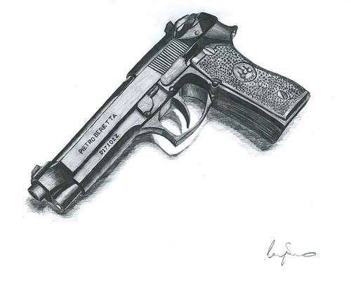 Gun Pencil Drawings Draw a Gun Step 21670 x 513