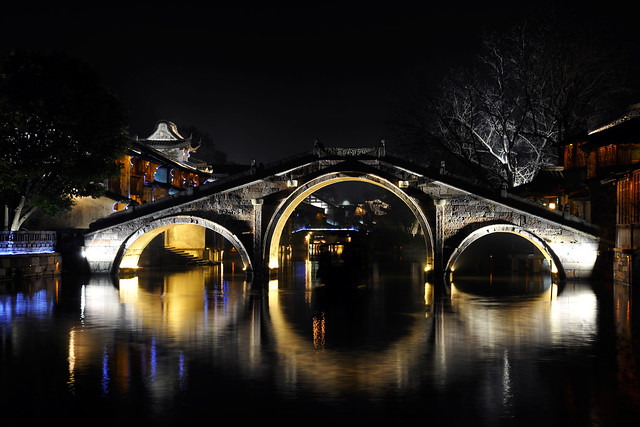 bridge at wuzhen night