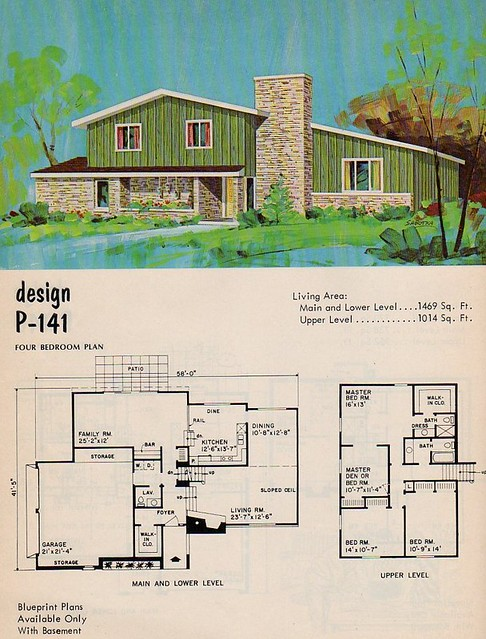 1950 Style Homes homes and plans of the 1940's, 50's , 60's and 70's | flickr