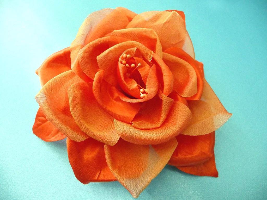 Flores de tela hechas a mano flickr photo sharing - Flores de telas hechas a mano ...