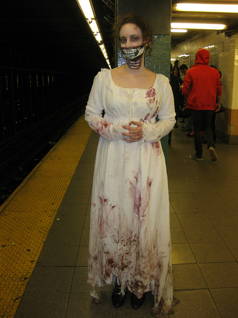 The best homemade halloween costume ever. Pride and Prejudice and Zombies! - Flickr - Photo Sharing!