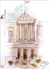 St Albans Old Town Hall, Hertfordshire uk by Rosemary Bradshaw. (drawingaline)