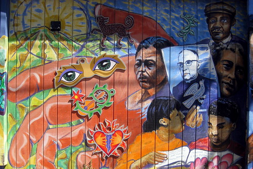 San Francisco - Mission District: Balmy Alley - A Tribute to Archbishop Oscar Romero