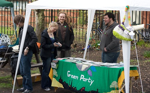 Manchester Green Party stall | by BinaryApe