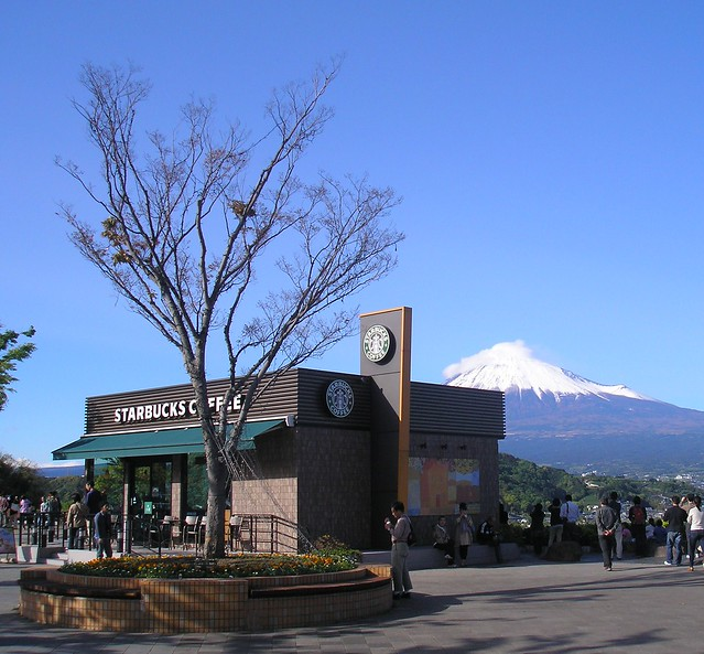 Starbucks and Fuji-san
