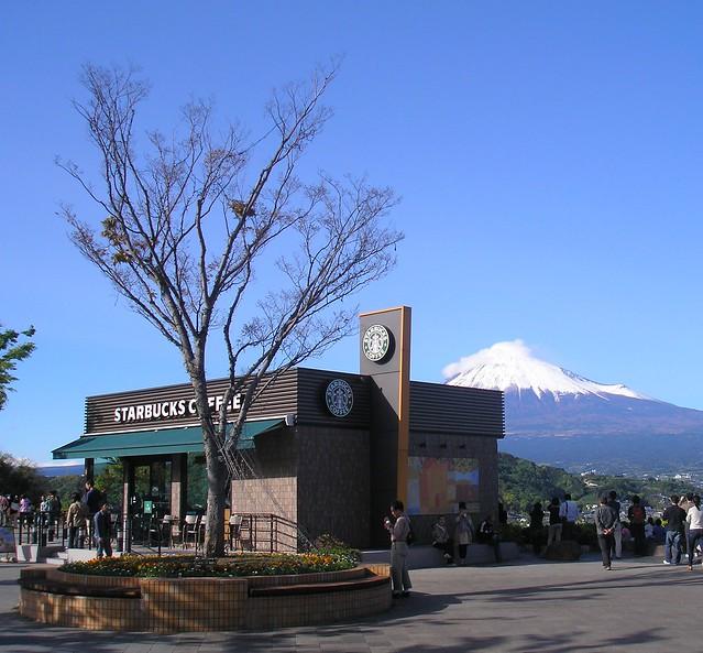 Starbucks and Fuji-san