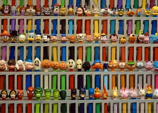 Wall of Pez Dispensers | by Ingrid Taylar