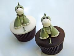 Baby Dino Cupcakes 2 by Sugarbloom Bev