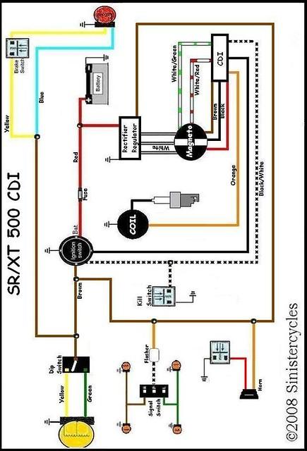 yamaha sr xt tt simple wiring diagrams flickr honda cl100 wiring diagram wiring diagram yamaha xt 500 #9