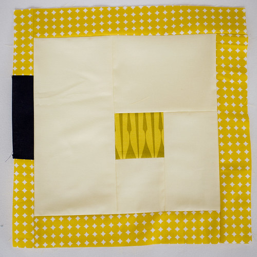 Yellow Squares Quilt Block 8 | by pricklypearbloom
