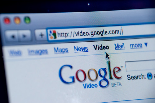 Google Video website screenshot | by Spencer E Holtaway