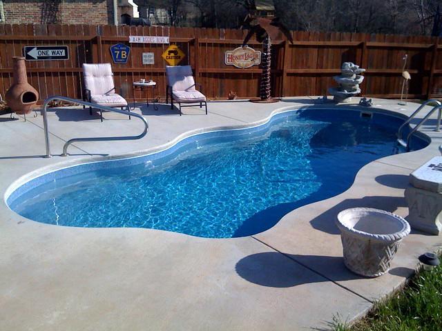 Pools of paradise lewisville tx fiberglass pools flickr for Viking pools