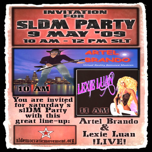***Invitation-slDMParty-9May09*** | by ⒶⒺⓇⒾⓈ   ⒷⒺⓉⓈⒺⓃ