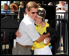 A big hug After Jacqueline Davis's 1st Race by InfiniteLOve888