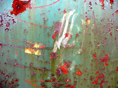 Peinture moderne naturel sur mur de fer benoit theodore - Decaper peinture sur fer ...