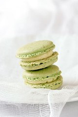 Creme Brulee Pistachio Macarons | by tartelette