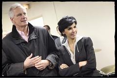 Rencontre de Michel Barnier et Rachida Dati avec les jeunes musiciens de Neuilly Plaisance