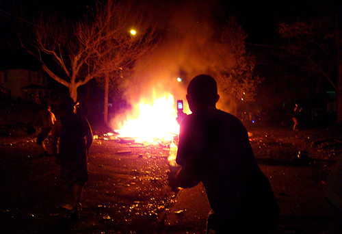 College Street riots | by Beth Rankin