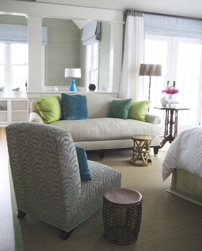 Frank Roop: Nantucket bedroom + brown + blue + green | by SarahKaron