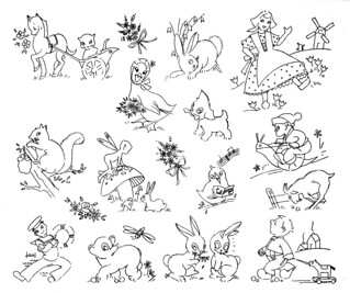 Embroideries For Kids  Vintage Embroidery Patterns For